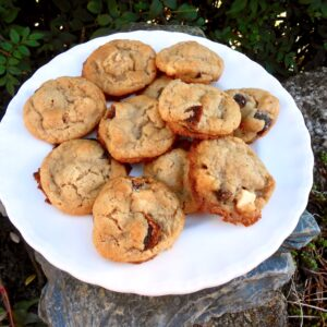 A plate of chewy apricot cookies.
