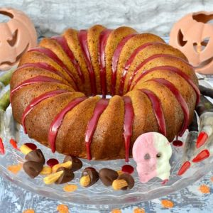 Spiced Orange Pumpkin Cake for Halloween.